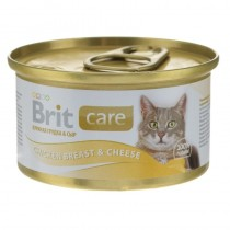 BRIT CARE CAT CHICKEN BREAST&CHEESE 80G PUSZKA