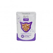 BRIT CARE CAT KITTEN CHICKEN&CHEESE 80G SASZETKA 100122