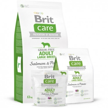 BRIT CARE GRAIN-FREE ADULT LARGE BREED SALMON&POTATO 1KG 132729
