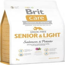 BRIT CARE GRAIN-FREE SENIOR&LIGHT SALM&POTAT.12KG 132733