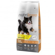 Nutrilove Adult Large Breed Kurczak 12kg+2,4kg 11481